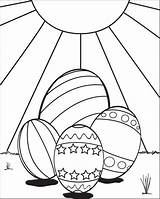 Easter Coloring Eggs Pages Egg Printable Colouring Sun Sheets Fun Supplyme Printables Four Easy Sitting Hatching sketch template