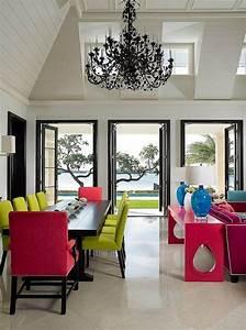 Chaises de cuisine tabourets et fauteuils en couleurs super for Deco cuisine avec chaise cuir rouge salle manger