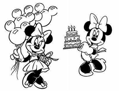 Minnie Mouse Coloring Printable Birthday Cartoon Mickey