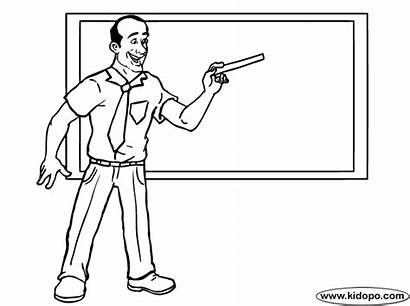 Teacher Coloring Pages Teachers Male English Getcoloringpages