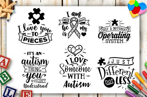 Download your free svg cut file and create your personal diy project with these beautiful quotes or red truck and tree merry christmas digital svg file. Autism Bundle - 40 autism SVG - Autism awareness By ...