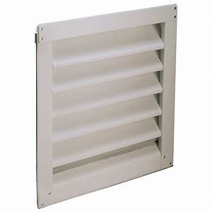 Air Vent 12 In  X 12 In  Aluminum Gable Mount  Wall Mount