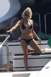 PAMELA ANDERSON in Bikini at a Yacht in French Riviera 08 ...
