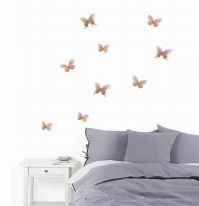 Papillon Décoration Murale : d co murale papillons m tal lot de 9 cuivre ~ Teatrodelosmanantiales.com Idées de Décoration