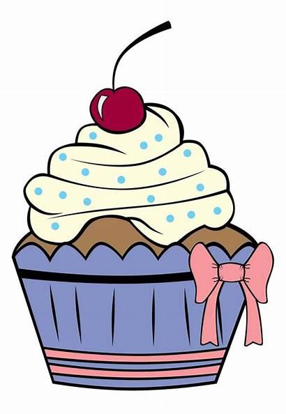 Cupcake Cake Cupcakes Outline Cartoon Printable Birthday