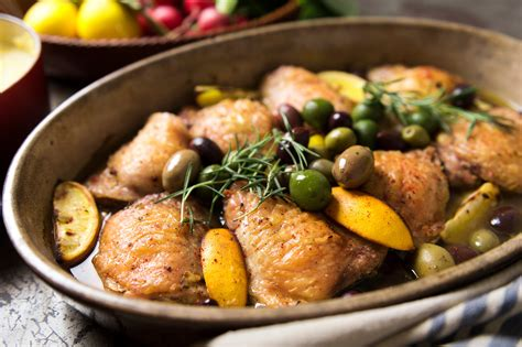 Braised Chicken With Lemon And Olives Recipe