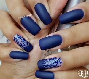 Royal Blue Matte Nails | HAIRSTYLE GALLERY