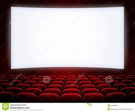 sieges de cinema occasion écran de cinéma avec des sièges photo stock image 34299860