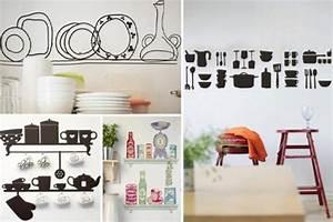 20 idees interessantes de deco murale cuisine With deco originale pour cuisine