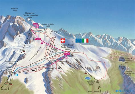 zermatt summer skiing piste map  downloadable piste maps