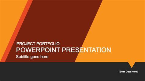 yellow portfolio powerpoint template slidemodel