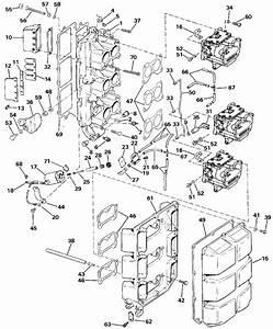 Johnson Intake Manifold Parts For 1990 150hp J150txesb