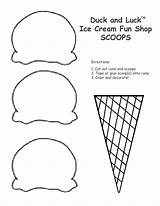 Cone Ice Cream Coloring Printable Pages Draw Template Drawing Printables Craft Crafts sketch template