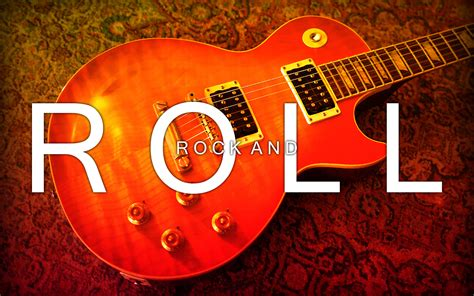 guitar rock roll text words letters statement