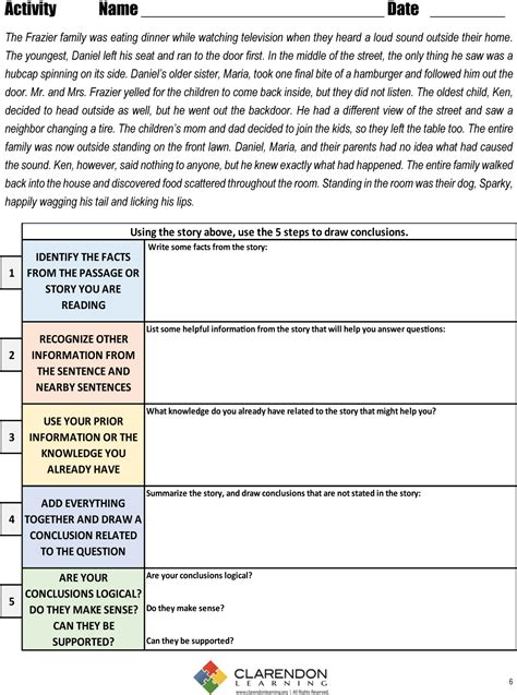 Drawing Conclusions Lesson Plan  Clarendon Learning
