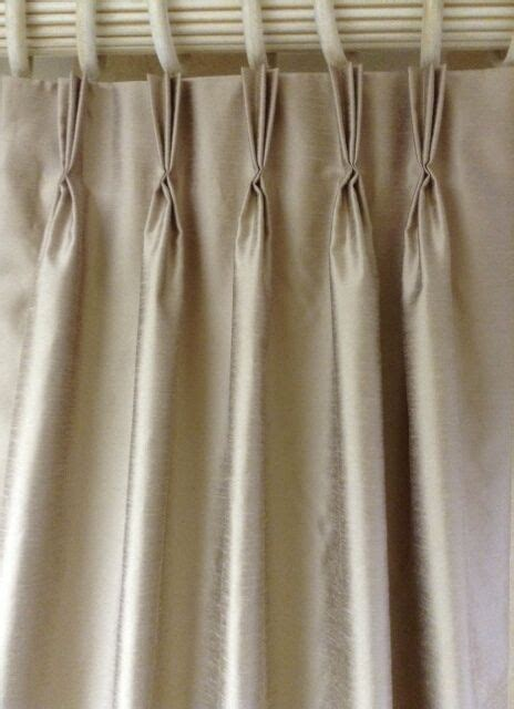 Silk Pinch Pleat Drapes - faux silk drapes with pinch pleats or rod pockets ebay