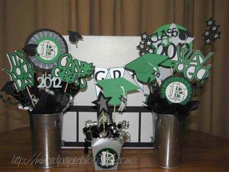 Graduation Table Decorations To Make by Minced Paper Graduation Decorations