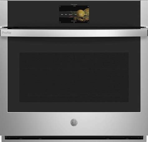 ptssnss ge profile  single convection wall oven  clean stainless steel