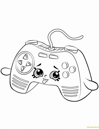 Shopkin Coloring Pages Console Connie Controller Season