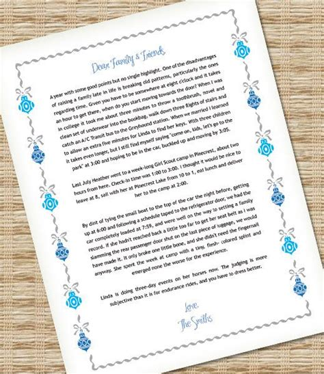 microsoft word christmas letter template  ornaments