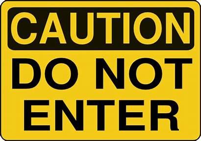 Sign Enter Caution Clip Clipart Clker