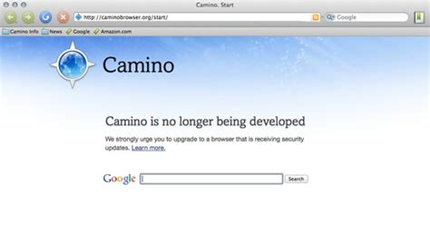 camino browser camino web browser for mac meets a end