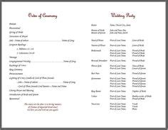 wedding bulletin template 1000 images about bulletins on knots cords and strands