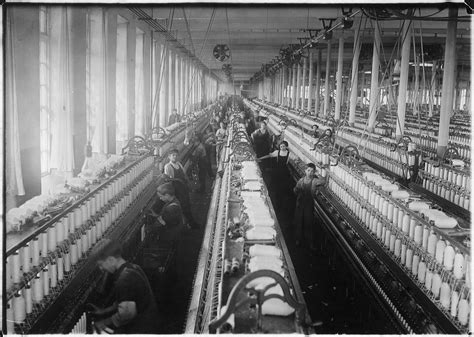 commerce bureau file general view of spinning room cornell mill fall