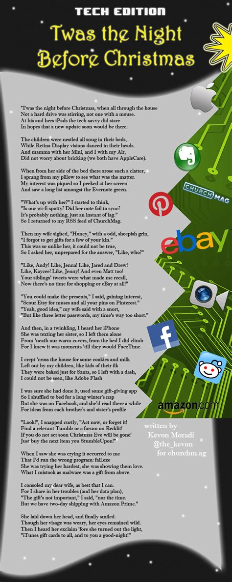 twas the night before christmas tech edition churchmag