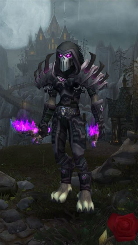 rogue transmog wow warcraft rogues worgen undead outlaw worldofwarcraft female elf awesome weapons