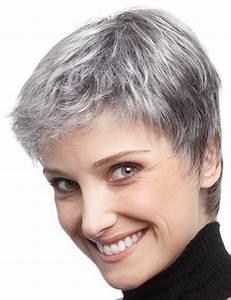 Coupe Cheveux Gris Femme 60 Ans : coupe cheveux gris femme ~ Voncanada.com Idées de Décoration