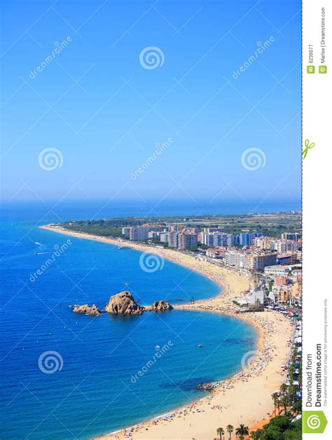 Blanes Beach Costa Brava Spain Stock Image Image Of