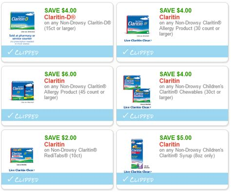hot  high  coupons  claritin