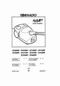 Notice Aspirateur Avec Sac Tornado To2705hp Et Pi U00e8ces