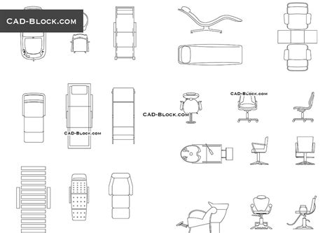 eames lounge chair autocad block