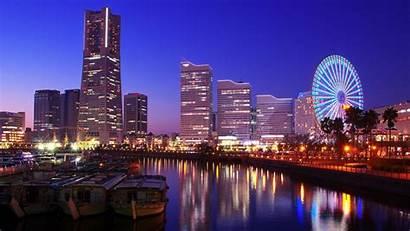 Yokohama Japan Tokyo Night Cityscapes Wallpapers Wallpapersafari