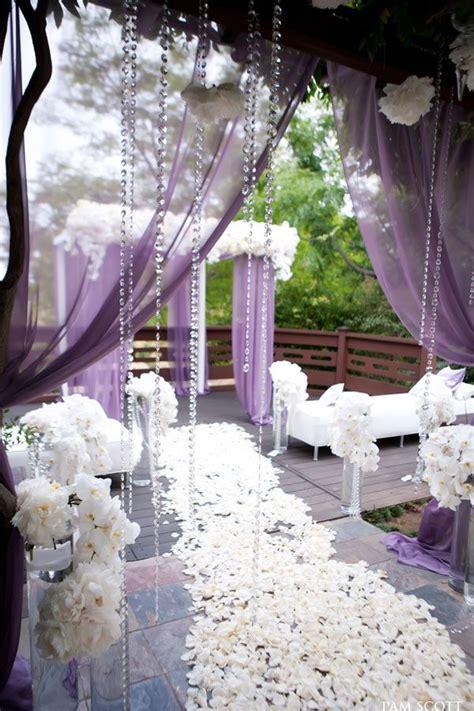 Gorgeous Lavender And White Outdoor Wedding Aisle Karen
