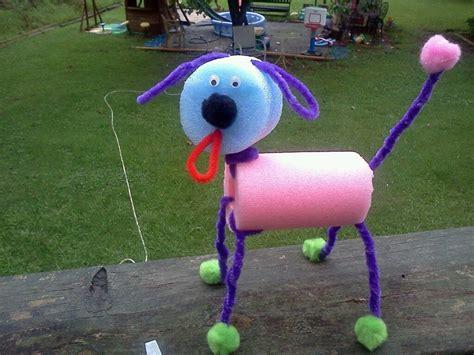 dog pool noodle craft homeschool  dakota