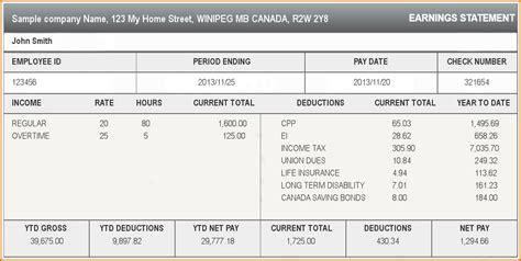 paycheck stub template 5 paycheck stub template authorizationletters org