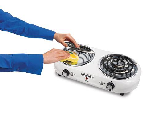 amazoncom proctor silex double burner electric countertop