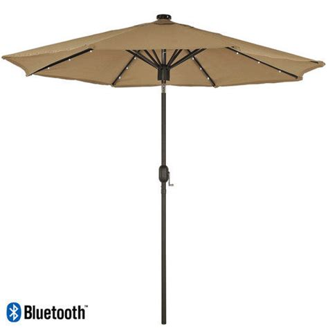 kensington 3m solar parasol with led lights and bluetooth