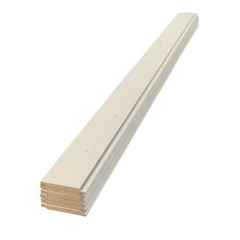 1 X 6 Shiplap Pine by 1 In X 6 In X 6 Ft Square Edge White Shiplap Pine Board