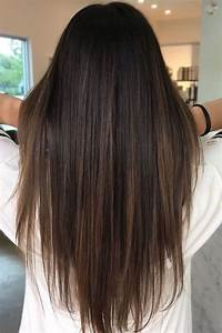 Brunette Balayage Straight Hair Brown Highlights