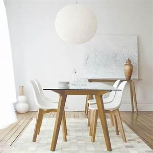 console en verre 50 idees de decoration d39interieur With meuble de salle a manger avec tableau deco scandinave