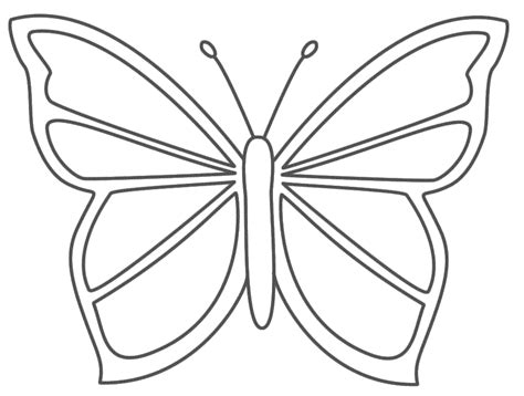 Coloring Page Butterfly Template