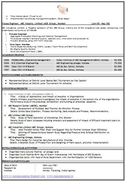 resume headline  mechanical engineer  naukri
