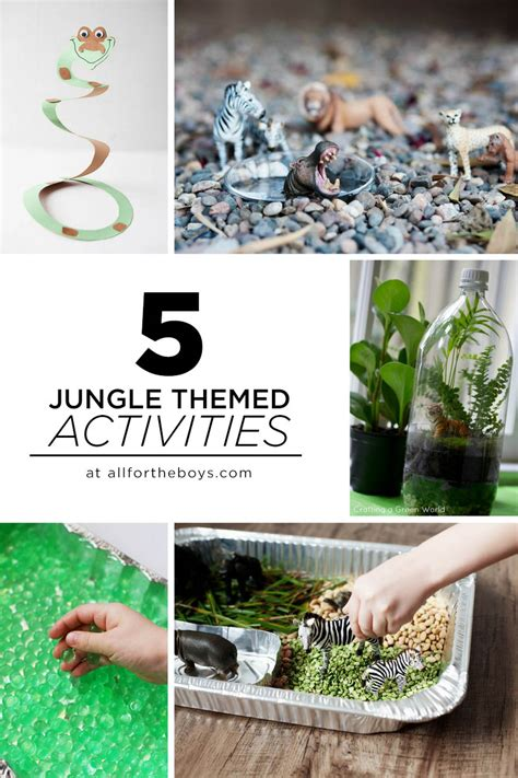 jungle themed activities    boys