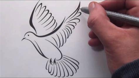 draw  tribal dove tattoo design youtube
