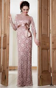 amelia lace maternity dress long vintage rose With robe nuisette dentelle