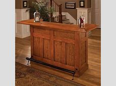 Hillsdale Classic Oak Large Home Bar Unit 62576AOAK